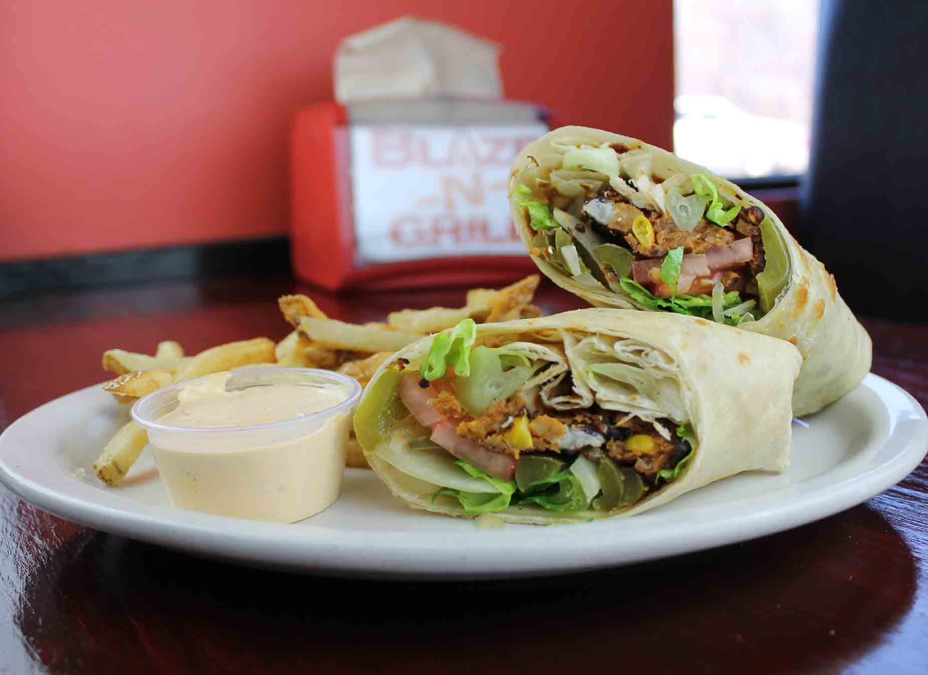 BLACK BEAN CHIPOTLE PHILLY WRAP