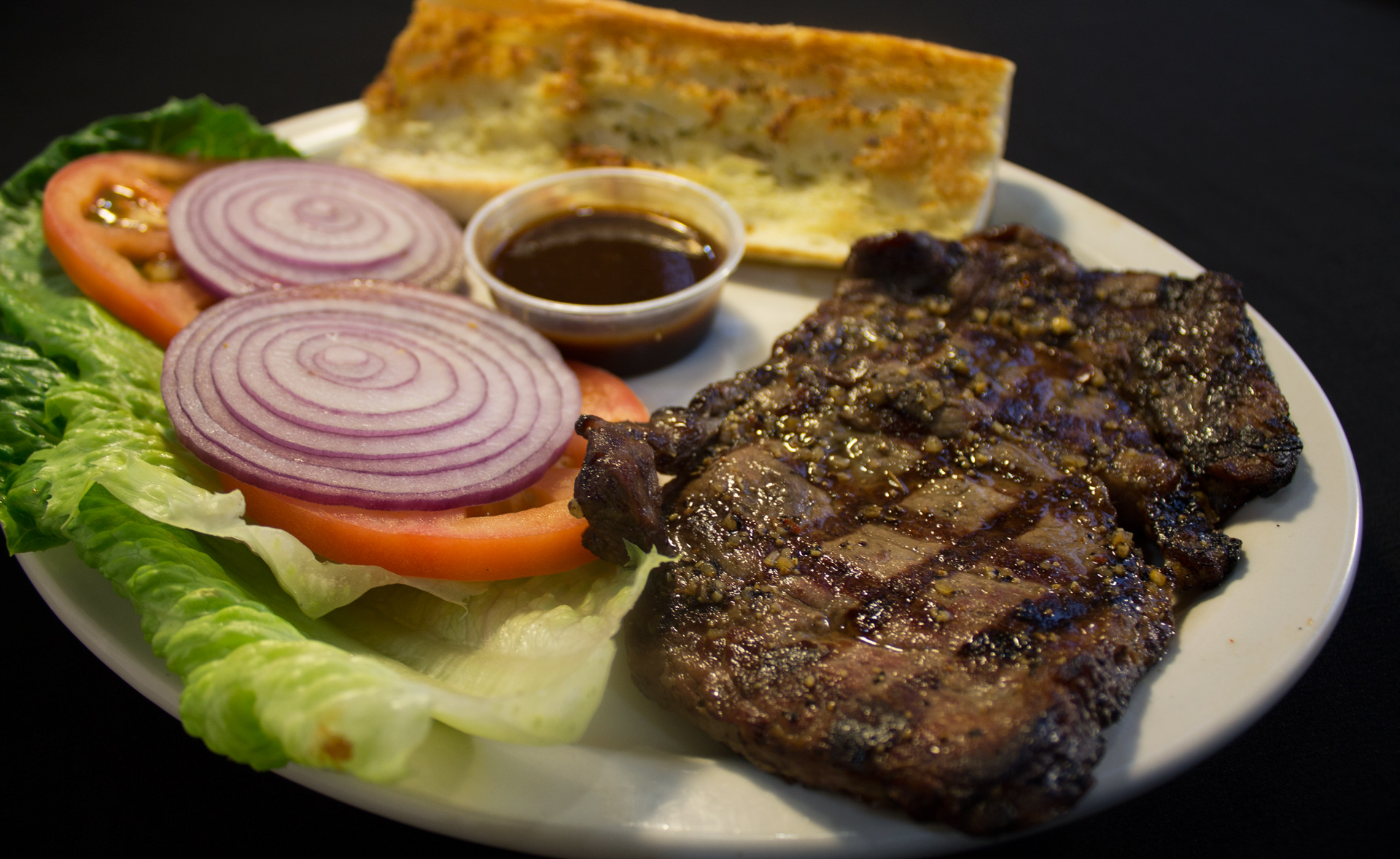 TRY OUR DELICIOUS N JUICY RIBEYE STEAK!