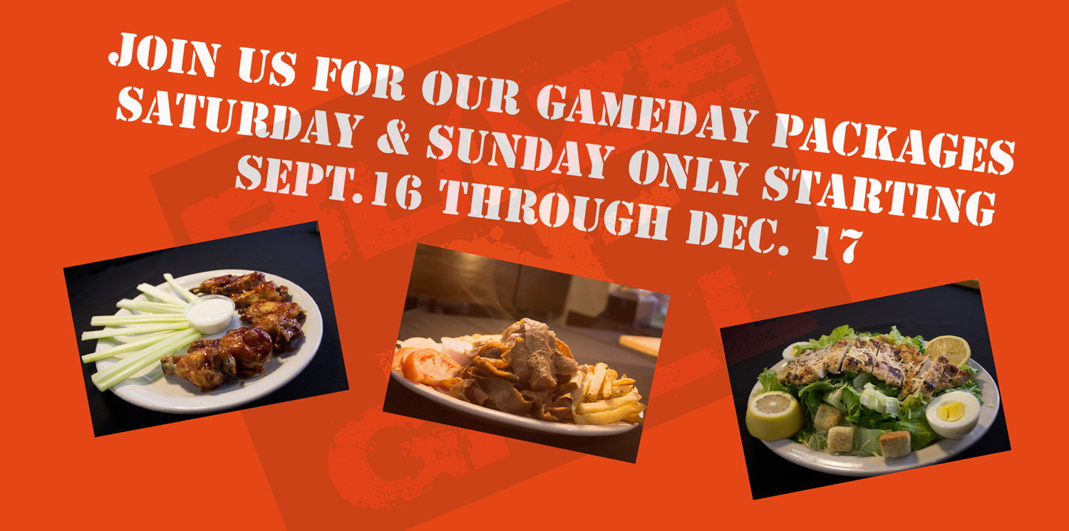 FOOTBALL SEASON IS HERE N OUR GAMEDAY SPECIALS TOO!